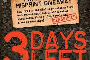 Only 3 Days Left to get in on the MISPRINTED Wheel Giveaway!