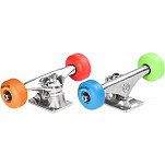 "Mini Logo® Truck Assembly - 7.63"" Polished - ML Bearings - 52mm 101a Assorted Color Wheels"