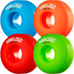 Mini Logo Wheel C-cut 54mm 101A Assorted 4pk