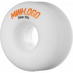 Mini Logo Wheel C-cut 53mm 101A White 4pk