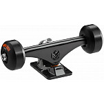 "Mini Logo Truck Assembly - 7.13"" Black - ML Bearings - 53mm90a Black Wheels"