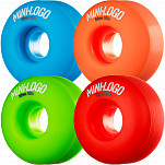 Mini Logo Wheel C-cut 52mm 101A Assorted 4pk