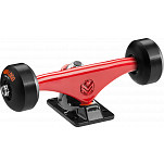 "Mini Logo Truck Assembly - 7.63"" Split Red/Black - ML Bearings - 53mm 90a Black Wheels"