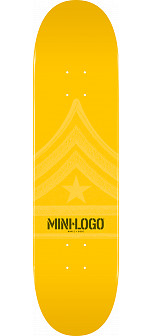 Mini Logo Quartermaster Deck 112 Yellow - 7.75 x 31.75