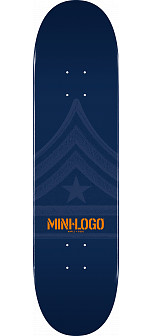 Mini Logo Quartermaster Deck 126 Navy - 7.625 x 31.625