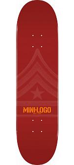 Mini Logo Quartermaster Deck 126 Maroon - 7.625 x 31.625