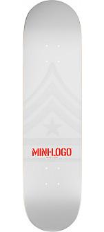 Mini Logo Quartermaster Deck 191 White - 7.5 x 28.65