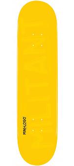 Mini Logo Militant Deck 124 Yellow - 7.5 x 31.375