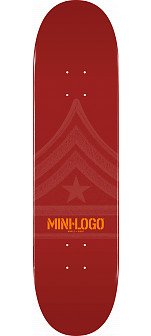 Mini Logo Quartermaster Deck 112 Maroon - 7.75 x 31.75