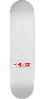 Mini Logo Quartermaster Deck 181 White - 8.5 x 33.5