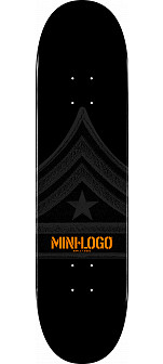 Mini Logo Quartermaster Deck 181 Black - 8.5 x 33.5