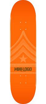 Mini Logo Quartermaster Deck 191 Orange - 7.5 x 28.65