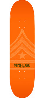 Mini Logo Quartermaster Deck 170 Orange - 8.25 x 32.5
