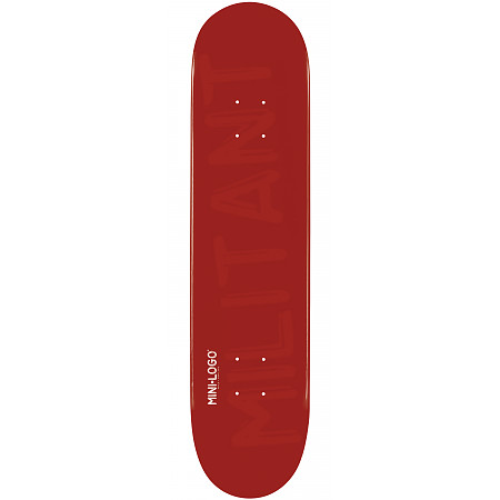 Mini Logo Deck 124 7.5&quot; Maroon