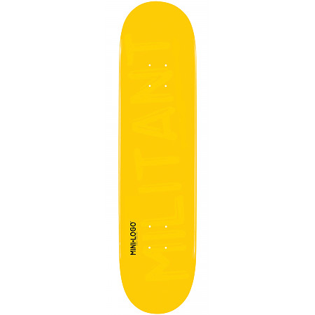 Mini Logo Deck 124 7.5&quot; Yellow