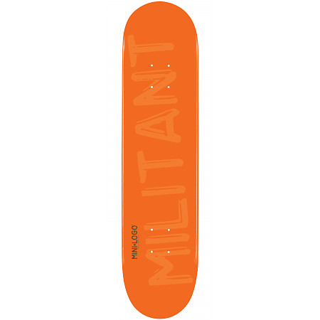 Mini Logo Militant Deck 124 Orange - 7.5 x 31.375