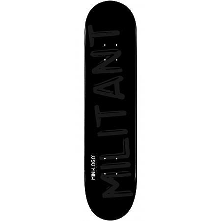 Mini Logo Militant Deck 170 Black - 8.25 x 32.5