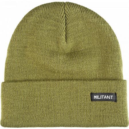 Mini Logo Beanie Militant Army Green