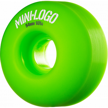 Mini Logo Wheel C-cut 54mm 101A Green 4pk