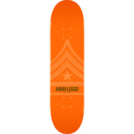 Mini Logo Quartermaster Deck 124 Orange - 7.5 x 31.375