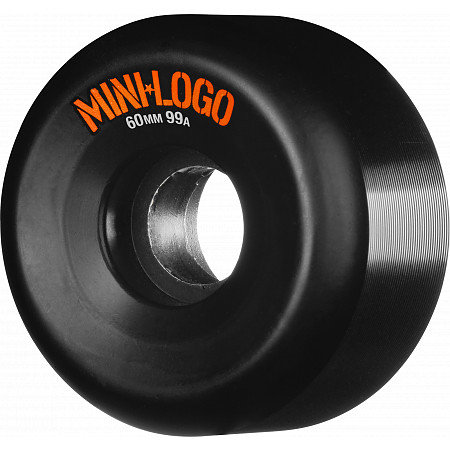 Mini Logo A-cut Wheel 60mm 99a Black 4pk