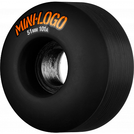 Mini Logo Wheel C-cut 51mm 101A Black 4pk