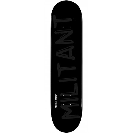 Mini Logo Militant Deck 126 Black - 7.625 x 31.625