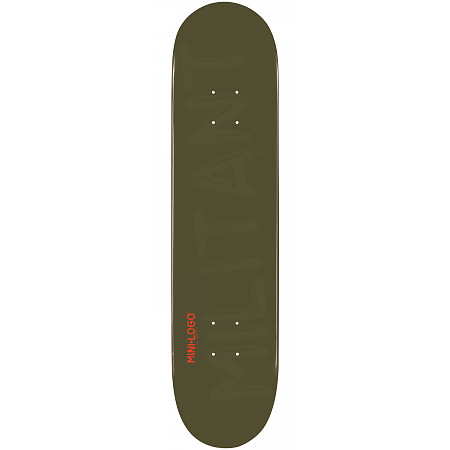 Mini Logo Militant Deck 124 Green - 7.5 x 31.375