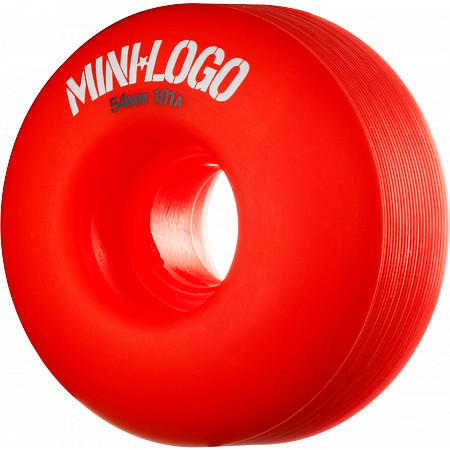 Mini Logo Wheel C-cut 54mm 101A Red 4pk