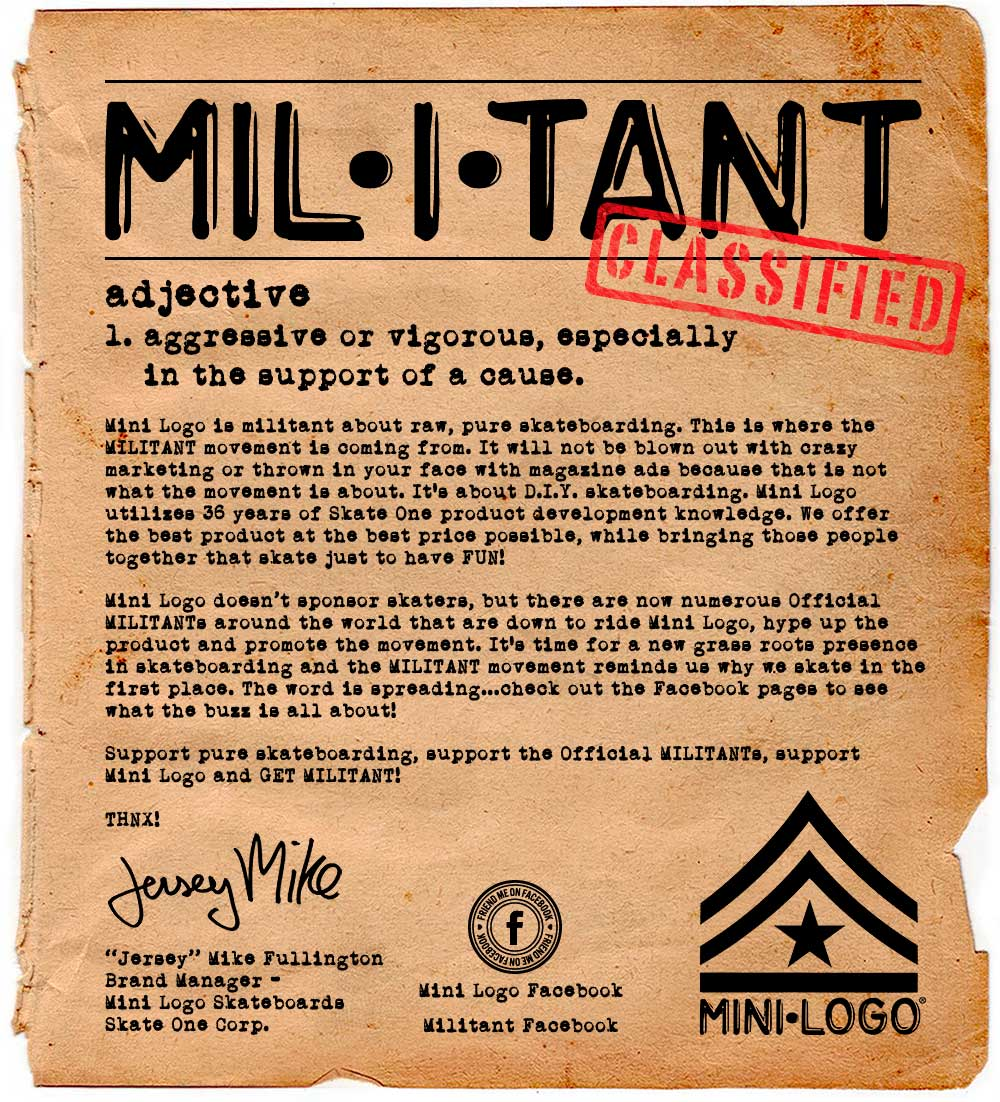 Militant About Skateboarding